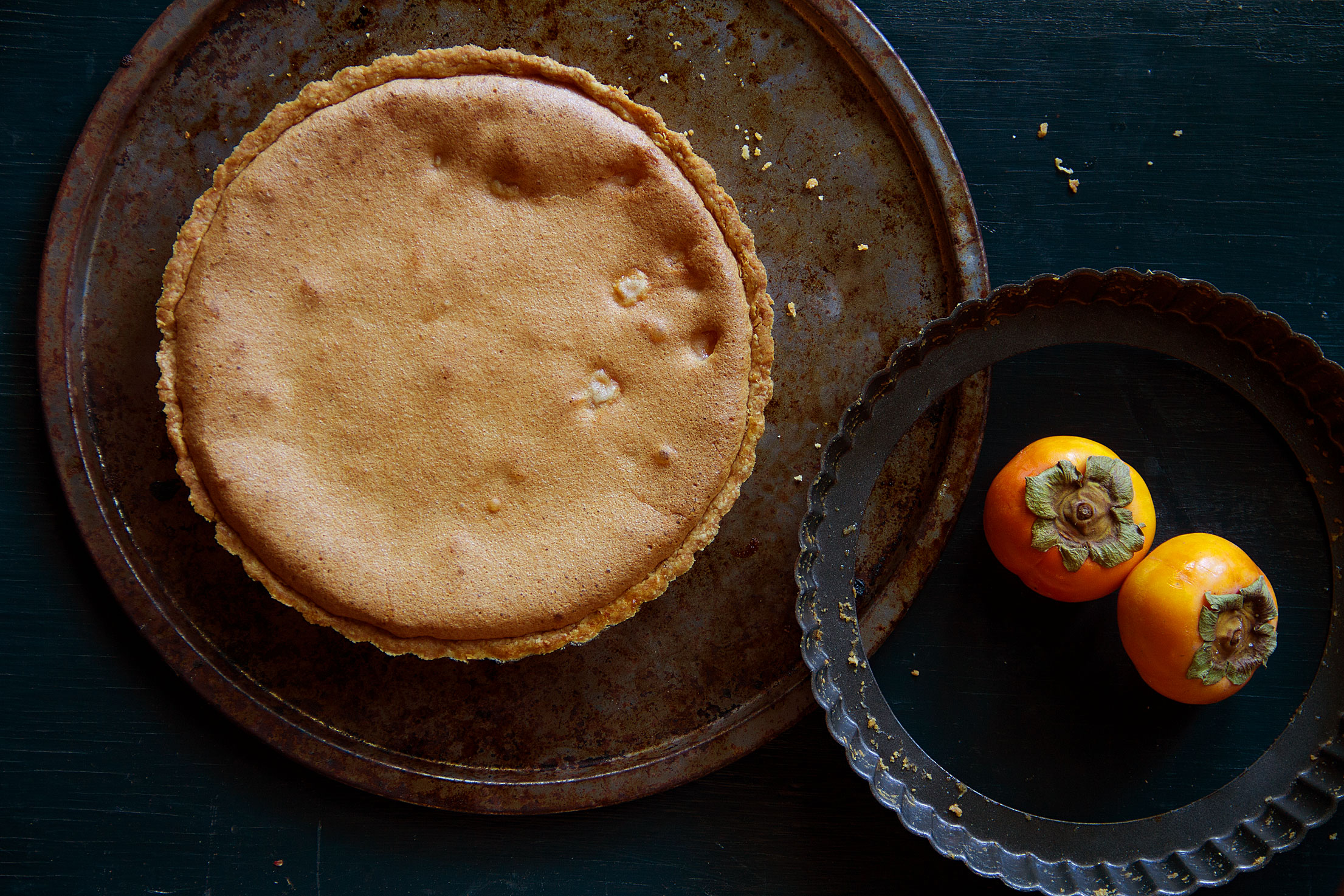 Persimmon Tart with Brown Butter Batter