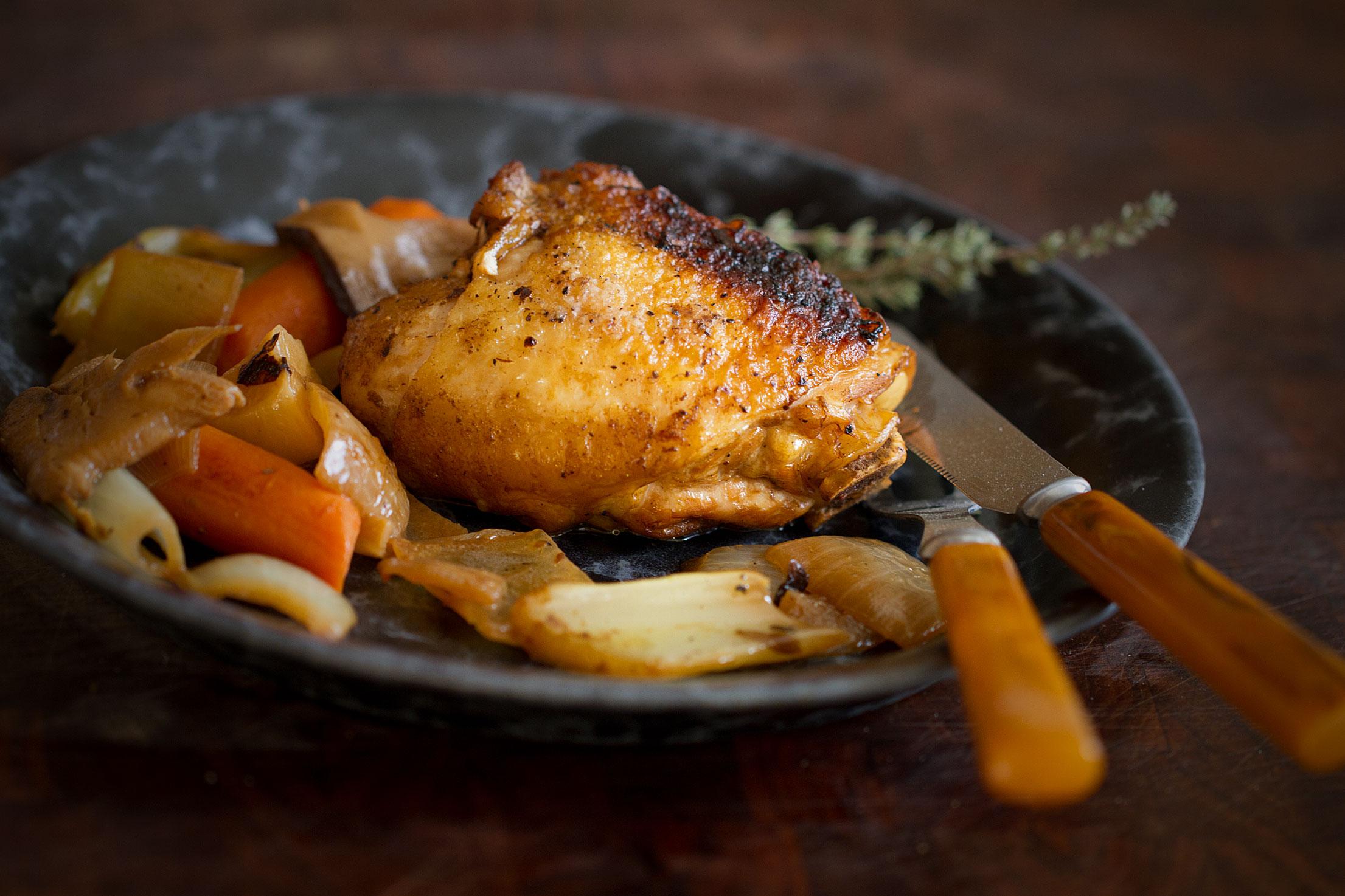 Shiitake Braised Chicken Thighs