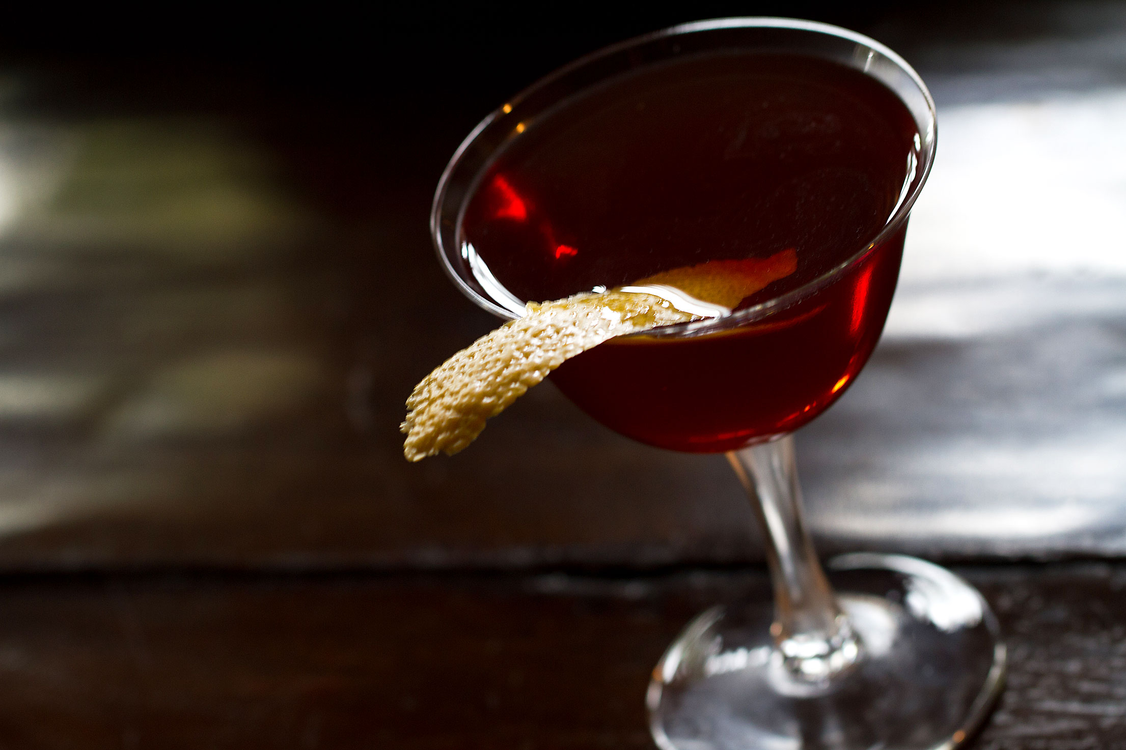 Vichy Cycle, a Calvados, Kummel, and Vermouth Cocktail