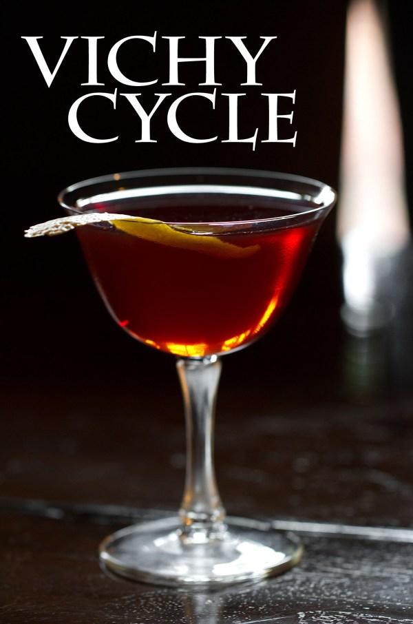Vichy Cycle, a Calvados, Kummel, and Vermouth Cocktail