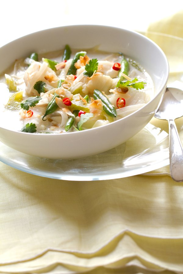 Coconut and Asian-Spiced Fish Chowder