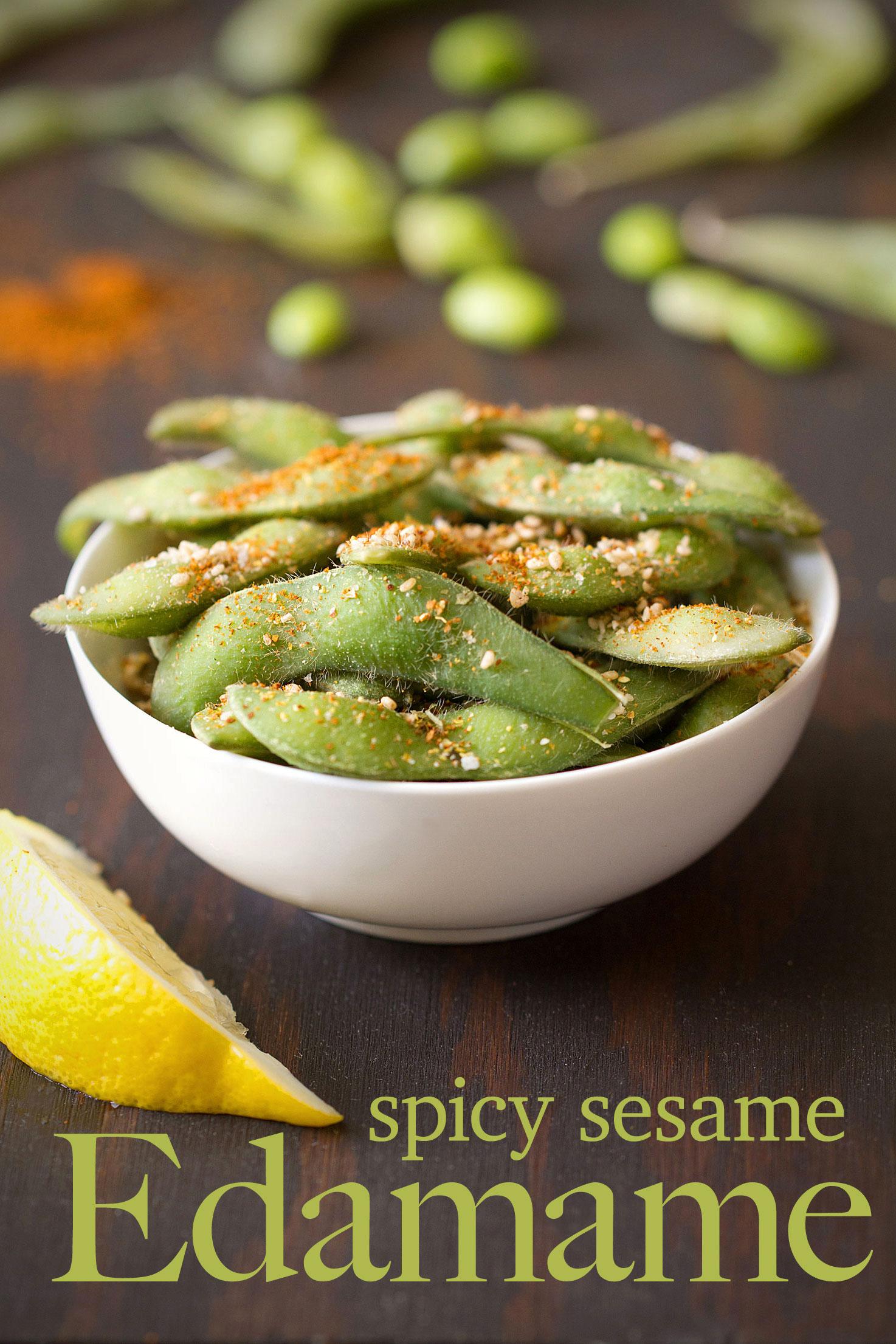 Spicy Sesame Edamame