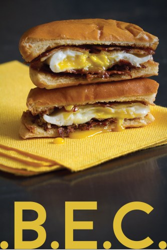 Bacon and Egg Sandwich: BEC NYC Deli-Style