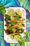 Grilled Broccolini and Shiitake Tacos