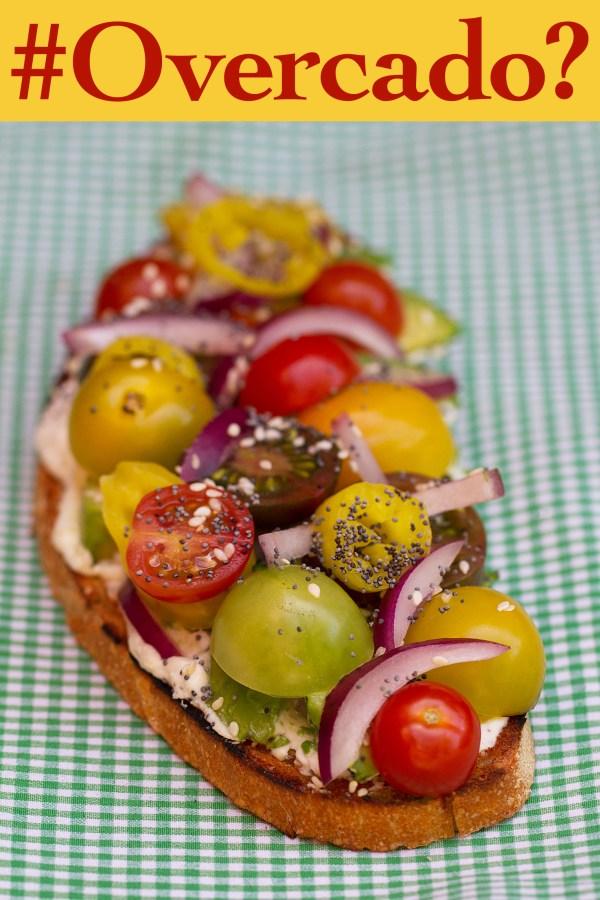 Lemon Ricotta with Avocado Open-Faced Sandwich