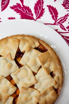 Sour Cherry and Apricot Tart made with Pasta Frolla (Italian Sweet Pastry Dough)