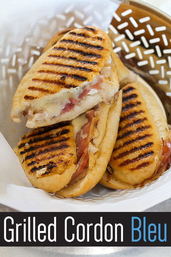 Chicken Cordon Bleu Grilled Cheese Panini