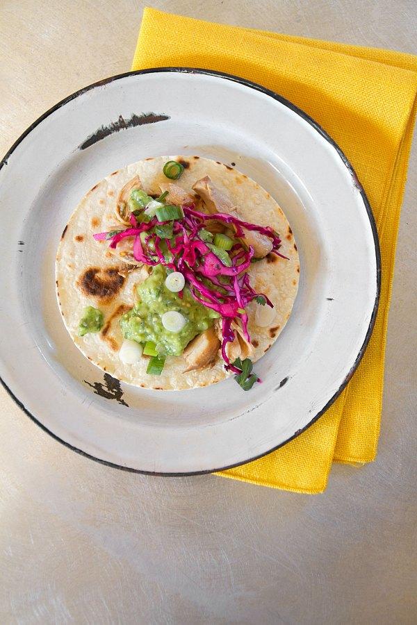 Shredded Chicken Adobo Tacos