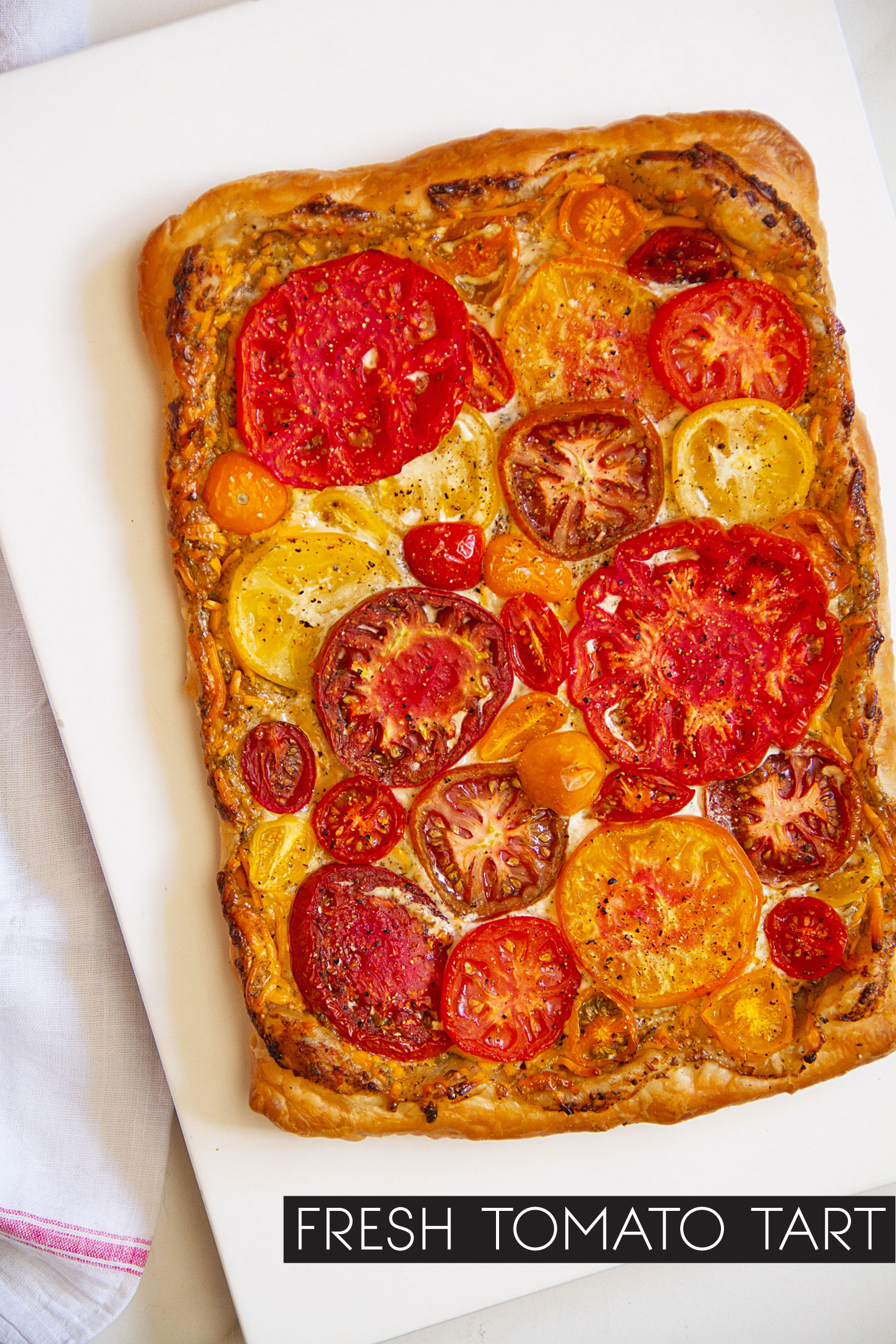 A Lighter (Simpler) Fresh Tomato Pie