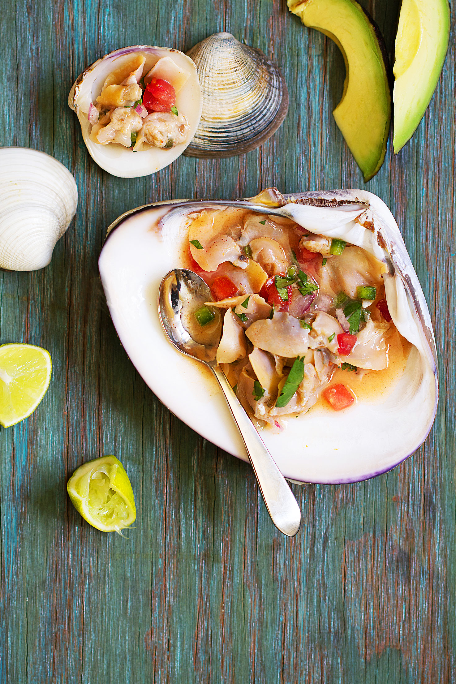 Clam Ceviche on the Half Shell