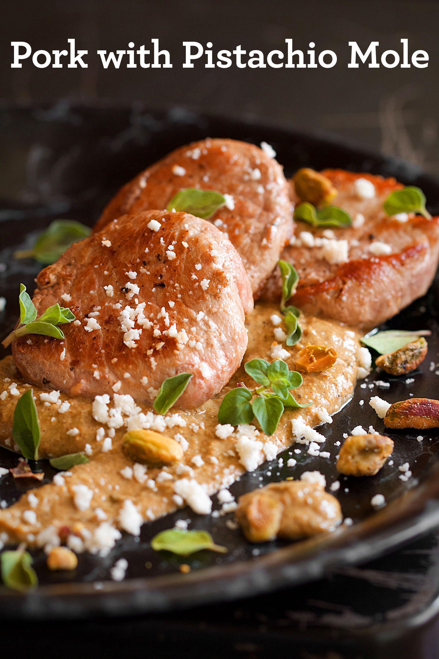 Pan-Seared Pork Medallions with Pistachio Mole