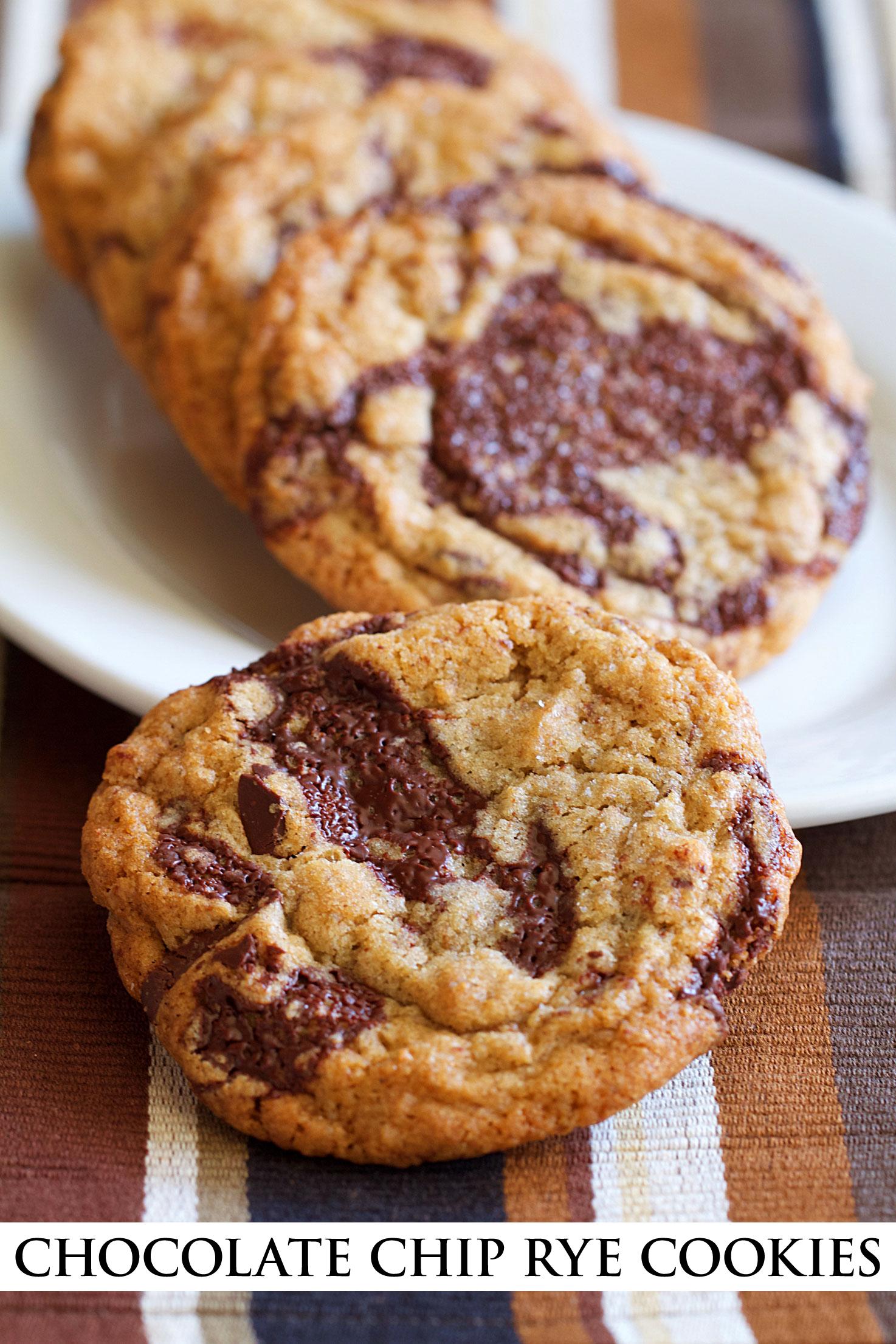 Chocolate Chip Rye Flour Cookies
