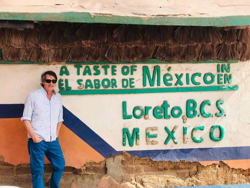 Sippity Sup (Greg Henry) eats tacos Dizoyla in Loreto, Mexico