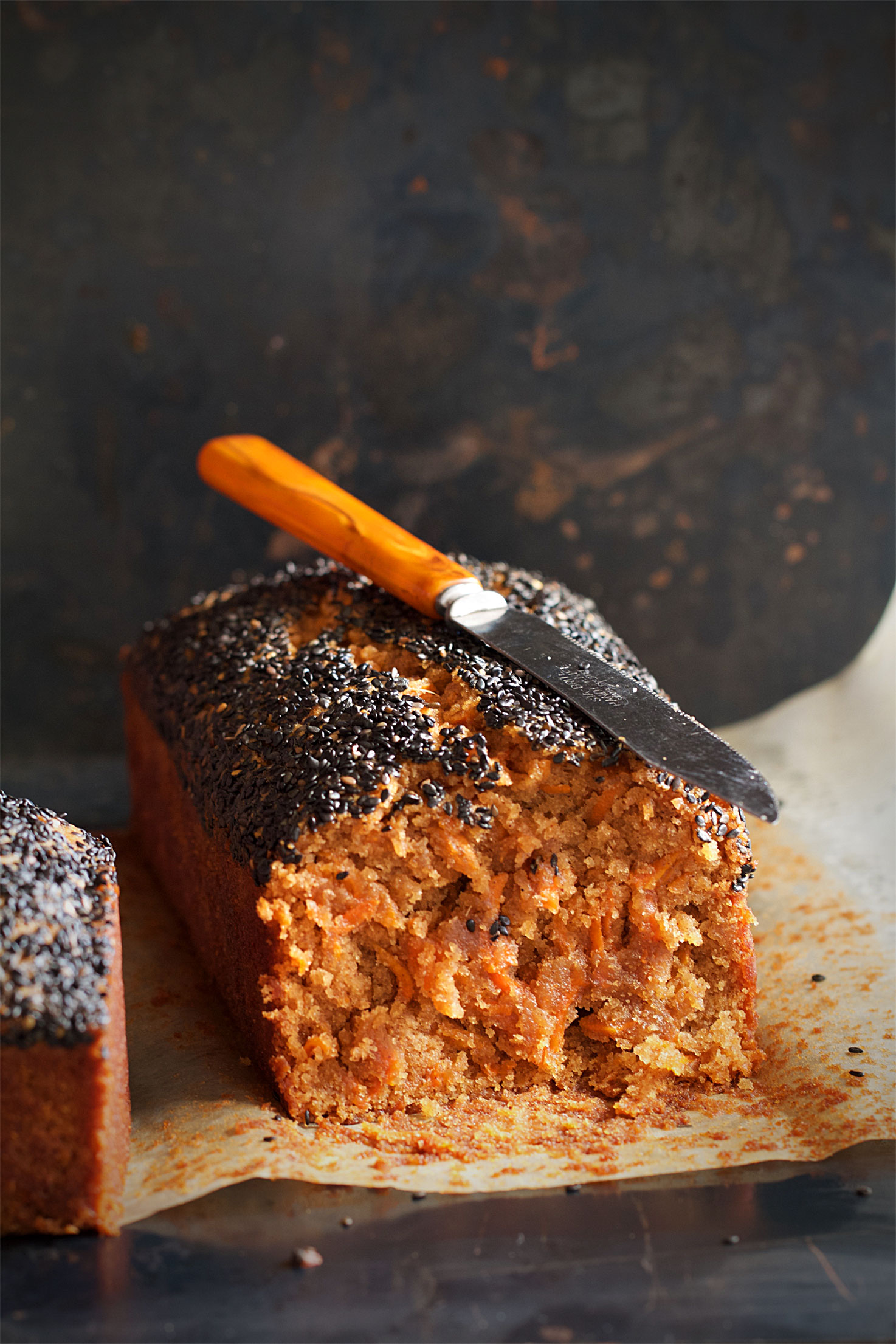 Carrot-Ginger Black Sesame Loaf