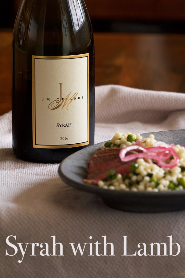 JM Cellars 2016 Syrah with Lamb
