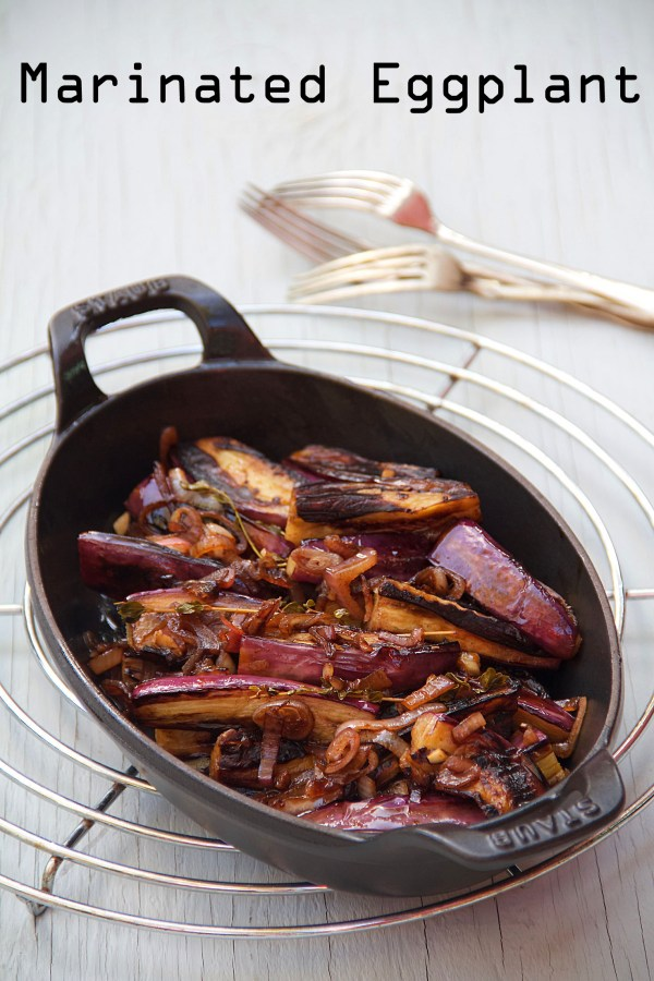 Honey & Vinegar Marinated Eggplant
