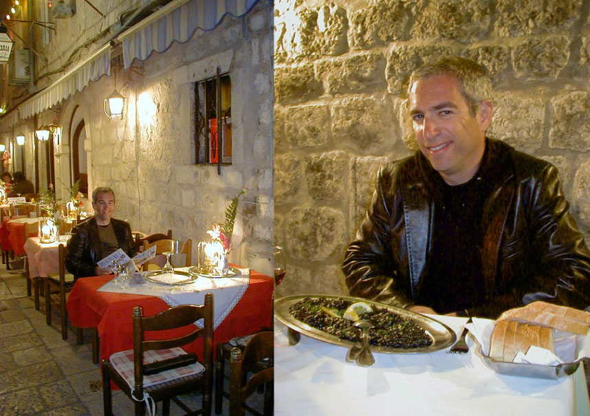 Ken Eskenazi dining in Croatia for Sippity Sup