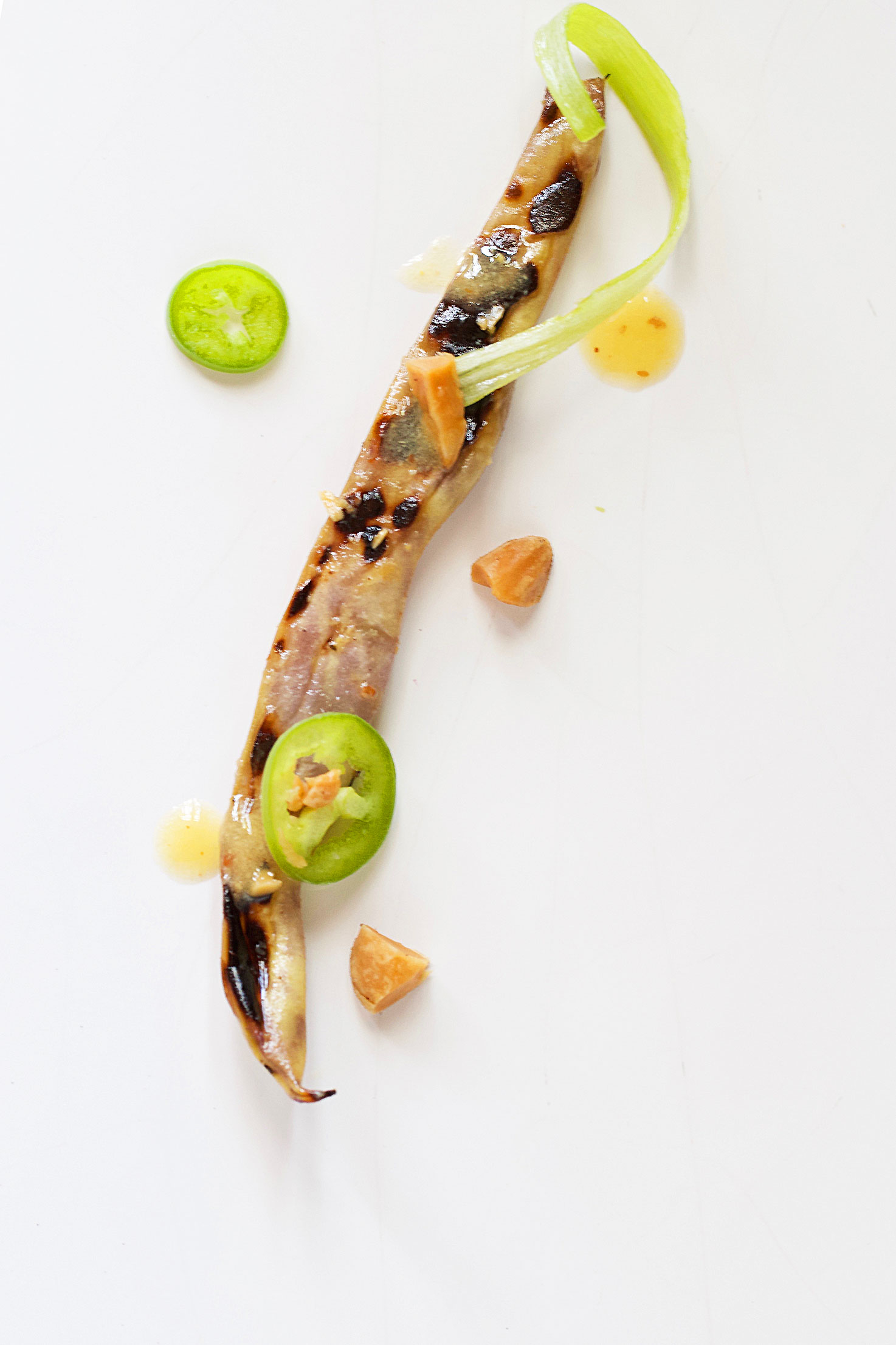 Charred and Chilled Spicy Dragon's Tongue Beans