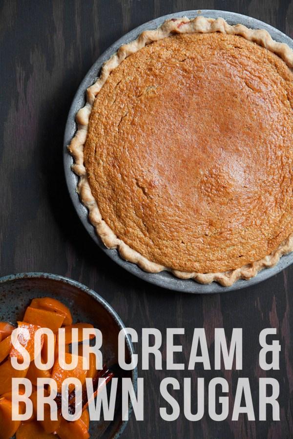 Sour Cream Brown Sugar Pie