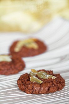 Chocolate-Ginger Crinkle Cookies