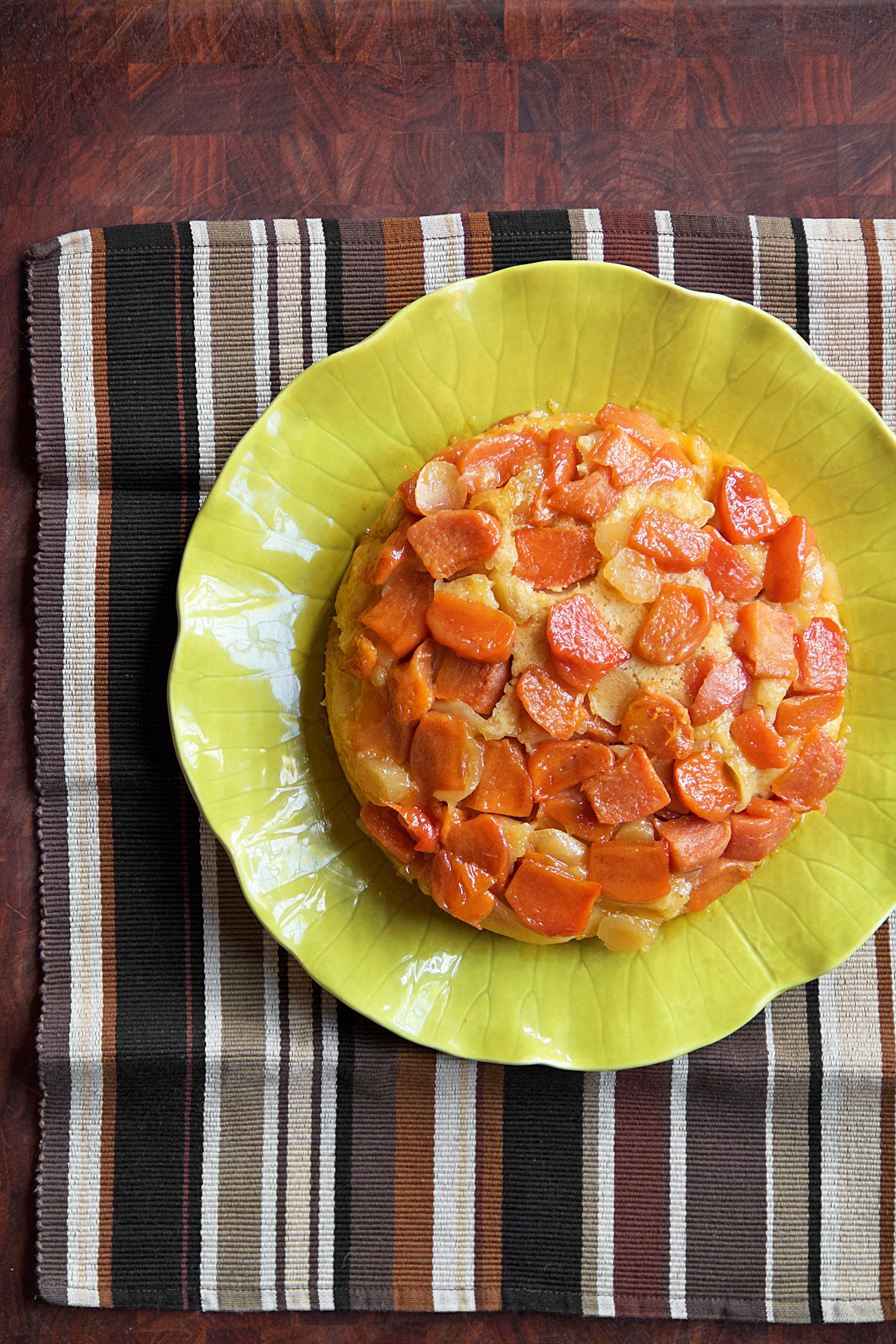 Persimmon-Ginger Upside-Down Cake