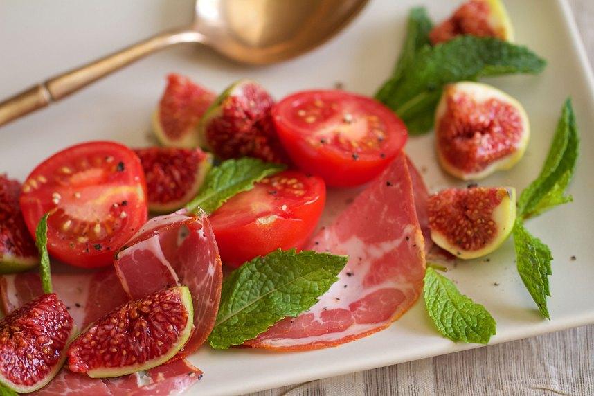 Tomatoes, Figs, and Prosciutto