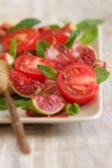 Tomato, Fig, and Prosciutto Salad