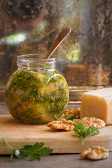 Walnut-Parsley Pistou
