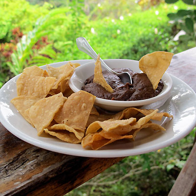 Chips and Black Bean Dip