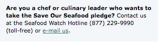 take the seafood watch pledge