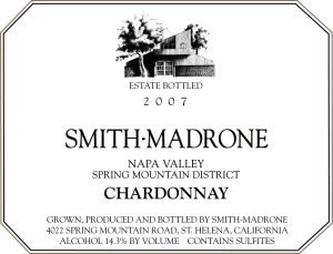 Smith-Madrone Chardonnay