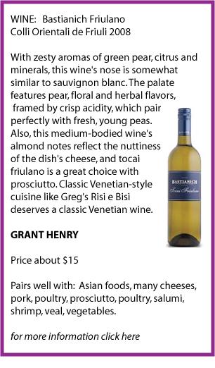 bastianich wine pairing