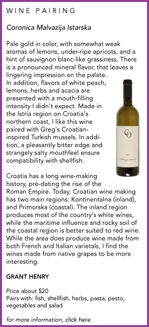 Croatian wine pairing
