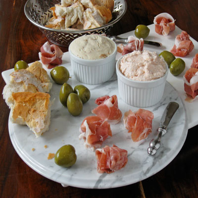 appetizers for a Sippity Sup party