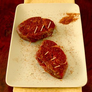 dry-rubbed filet mignon