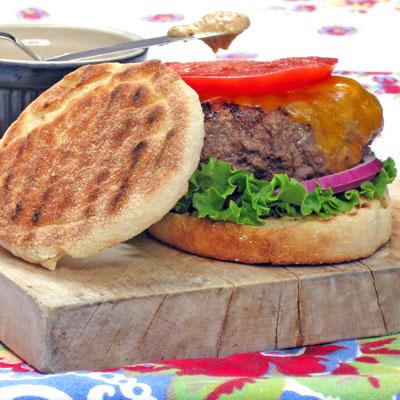 horseradish buffalo burger