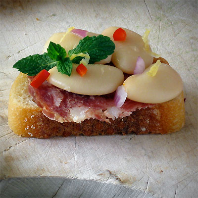 butter bean crostini