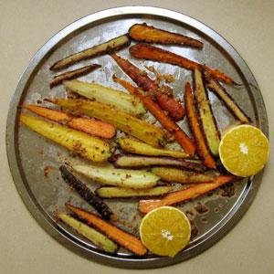 roast heirloom carrots