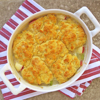 Turkey Pot Pie with cheddar