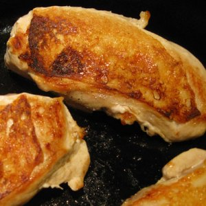browned chicken breasts