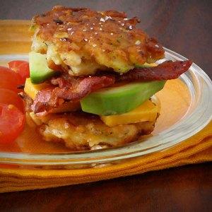 bacon avocado corn fritters