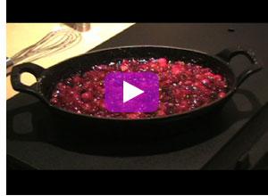 cranberries baked in cognac