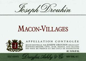 joseph drouhin macon villages blanc label