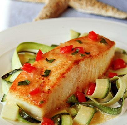 halibut and zucchini