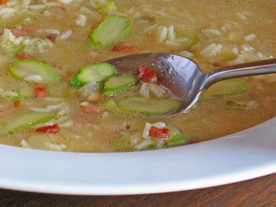 asparagus and pancetta soup