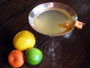 lemon lime tangerine citrus martini
