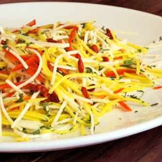 Jicama, Mango Slaw with Pequin Peppers