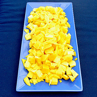 diced mango at Sippity Sup
