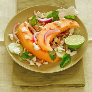 Melon and feta salad from Sippity Sup