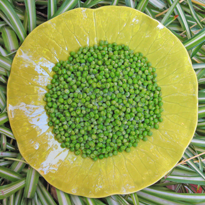 frozen peas are usually just as good as fresh peas